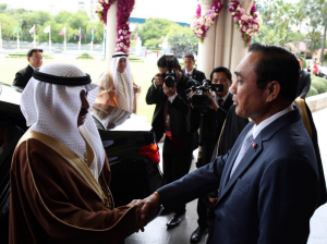 HRH Premier holds discussion session with Thai counterpart