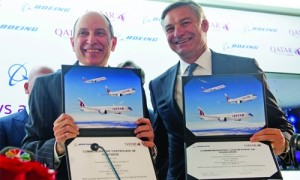 Qatar Airways to buy 100 Boeing airplanes