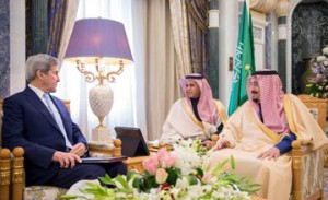 Saudi King receives US state secretary