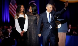 President Barack Obama bid farewell to the nation