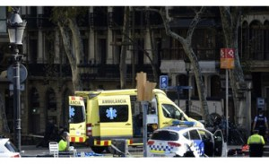 13 killed in Barcelona as van ploughs into crowd