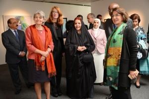 HRH Princess Sabeeka opens art show
