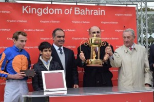Ambassador to UK presents Bahrain horse racing trophy