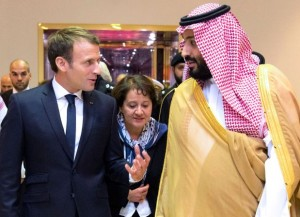 French President meets Saudi Crown Prince