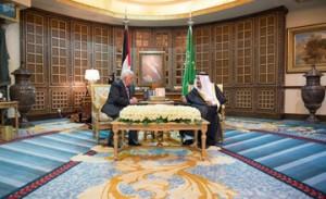Saudi Monarch receives Palestinian President