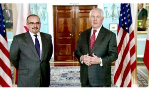 HRH Crown Prince meets US Secretary of State