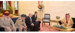 King meets British delegation