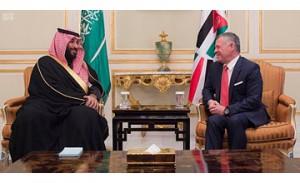 Saudi CP, Jordanian King hold talks