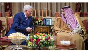 Saudi King meets Palestinian leader