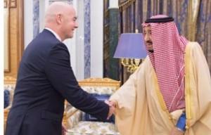 Saudi King receives FIFA President