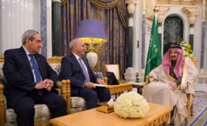 Saudi King meets Iraqi delegation