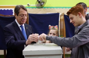 Anastasiades re-elected Cyprus President