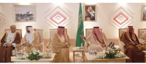 King attends lunch banquet hosted by Saudi monarch