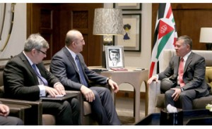 King of Jordan meets Turkish FM